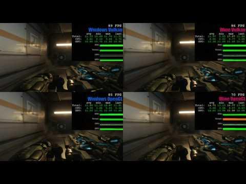 Doom 2016 Vulkan vs OpenGL on SteamOS & Windows