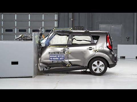 small - 2015 Kia Soul 40 mph small overlap IIHS crash test Overall evaluation: Good Full rating at http://www.iihs.org/iihs/ratings/vehicle/v/kia/soul/2015.
