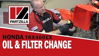 4. How To: Honda ATV Oil Change & Oil Filter Change - TRX | Partzilla.com