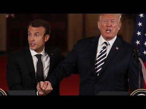 Βίντεο: Οι ιδιαίτερες χειραψίες και η «αγάπη» του Τραμπ για τον Μακρόν!…