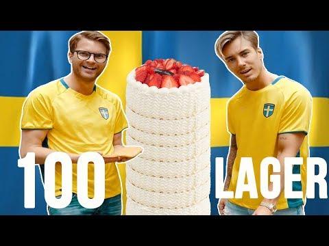 100 LAGER JORDGUBBSTÅRTA!!!