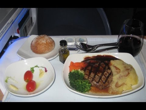 Aircanada International Business Class (first class) Food menu
