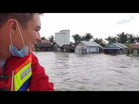 Baim wong ke kalsel kunjungi korban banjir