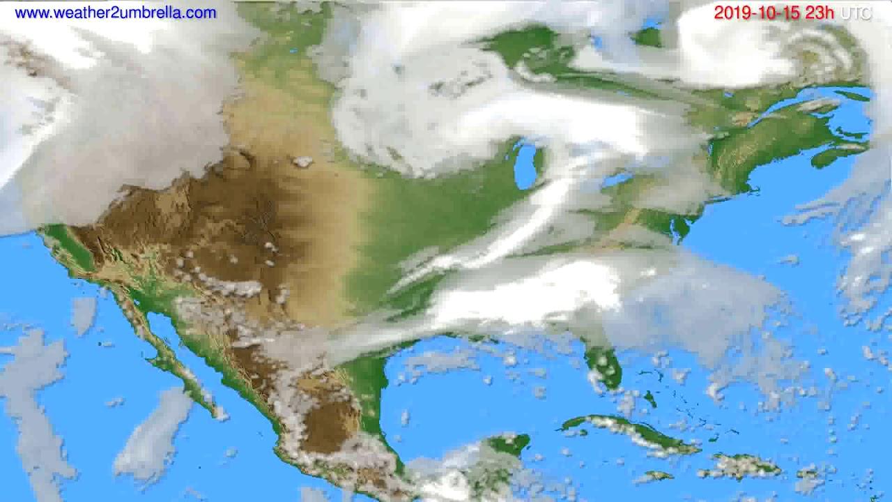 Cloud forecast USA & Canada // modelrun: 12h UTC 2019-10-12