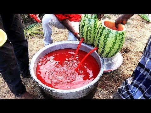 Watermelon Fruit Juice Prepared in my Village | village food taste