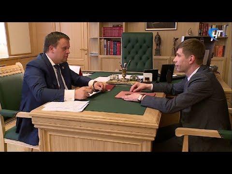 Андрей Никитин обсудил вопросы развития Пестовского района с главой муниципалитета Дмитрием Ивановым