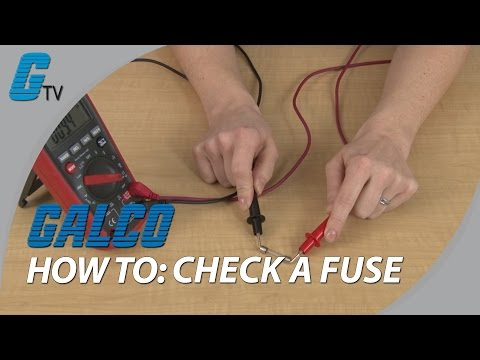 How to Check a Fuse by Testing it with a Multimeter