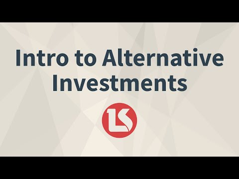 CFA Level 1 Intro to Alternative Investments