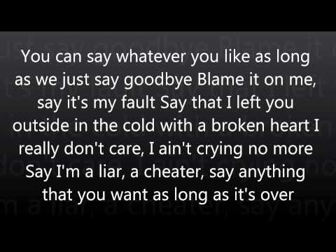 Blame it on Me - Blame it on me lyrics by chrisette michele.