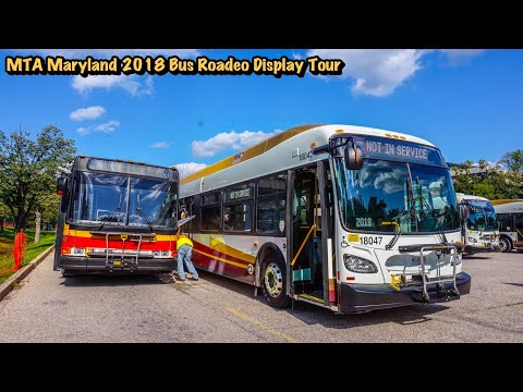 MTA Maryland 2018 Bus Roadeo Display Tour