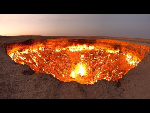 Wrota piekieł - krater Derveze w Turkmenistanie