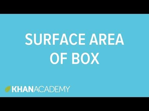 Surface Area Of A Box Cuboid Video Khan Academy
