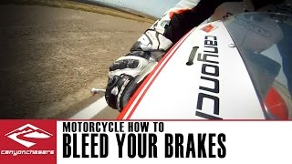 10. How to bleed brakes on a Motorcycle (with ABS) or after installing stainless steel brake lines