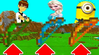DO NOT CHOOSE THE WRONG BOW IN Minecraft PE! (BEN 10, ELSA & Minion)