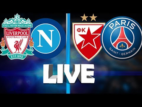 LIVE-STREAM | CHAMPIONS LEAGUE LIVERPOOL Vs NAPOLI & RED STAR Vs PSG | LIVE COMMENTARY AND STUDIO