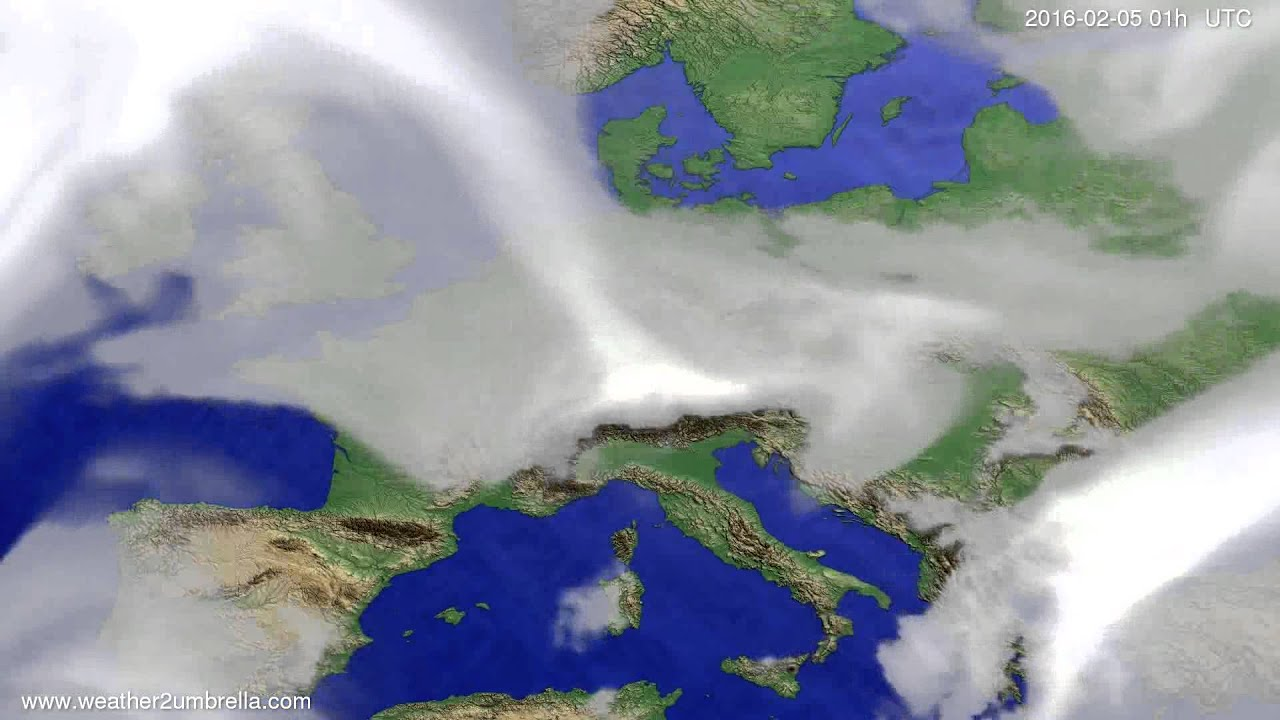 Cloud forecast Europe 2016-02-02