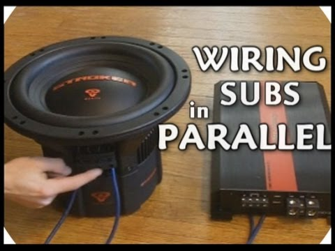 How To Wire DVC Subwoofers In Parallel // Dual 2 Ohm Voice Coil Sub ...