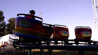 carnival time has arrived in the mighty Midwest!enjoy this spinning roller coaster kiddie ride! Crazy Buses, Bumper Cars, Surfer Trains  Frog Hoppers  Helicopters. Ferris Wheel ,Himalaya kiddie rides summer fairs, Midwest carnivals,