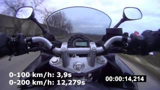 4. Yamaha FZ6 Fazer (2006) - Acceleration 0-100 & 0-200 km/h