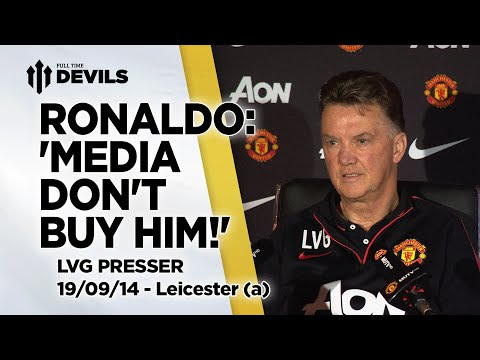 ronaldo - Another virtuoso press display from Van Gaal ahead of the Leicester City vs Manchester United game. Watch to the end; he's having a right laugh! Subscribe, FREE, for more MUFC: http://bit.ly/DEVILS...