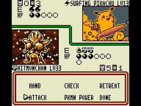 pokemon trading card game gameboy color cheats