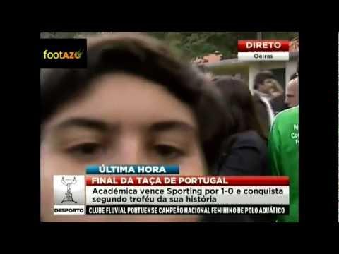 Jornalista da SIC agredida depois da Final da Taça
