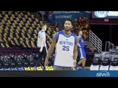 Video: Where in the world is Knicks point guard Derrick Rose??