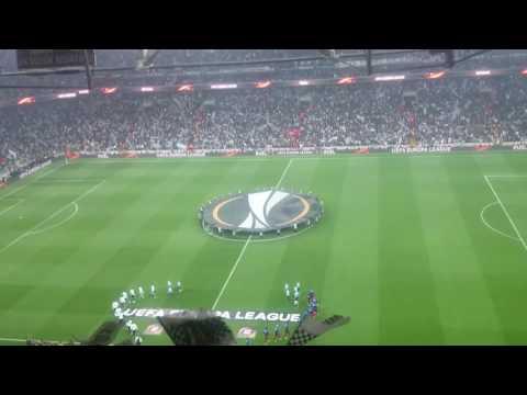 Beşiktaş - Lyon Seramoni ve Bayrak Show