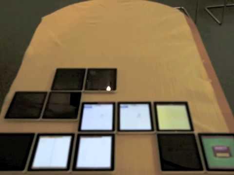 用18台ipad玩俄羅斯方塊,真的還蠻神奇的!