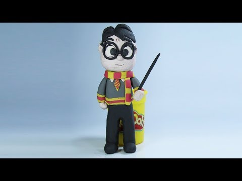 Harry Potter Ride Broomstick Nimbus 2000 - Play Doh Stop Motion