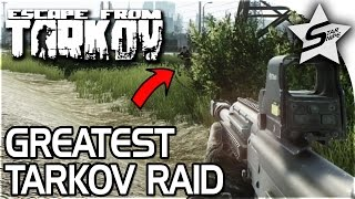 EPIC ESCAPE FROM TARKOV RAID, Too Much Action!! - Customs Raid Part 1 - Escape From Tarkov Gameplay