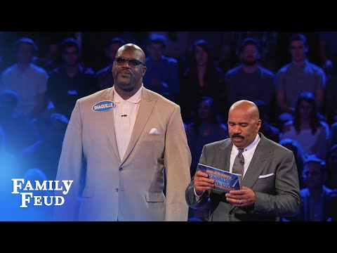 Shaq and Charles Barkley's EPIC Fast Money!  Celebrity Family Feud
