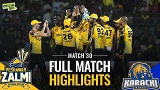 PSL 2019 Match 30: Peshawar Zalmi vs Karachi Kings | Full Match Highlights