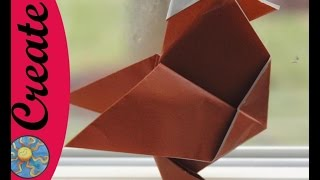 This is week 2 of my weekly origami during the school year.  How to make an origami Chicken.  It looks a little like a hen to me.