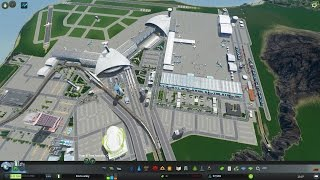New Airport Time-Lapse - Cities Skylines