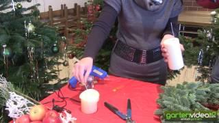 #912 Weihnachtsdekoration - Kerzen am Adventskranz befestigen