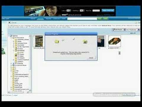 Attach - Short tutorial on how to add photos and files to email. This shows yahoo, hotmail, and gmail.