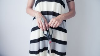 DIY Maxi Tent Dress - FASHION TUTORIAL