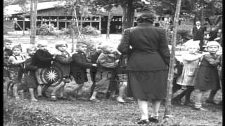 Wetzlar Germany  City new picture : Children play and receive food in Wetzlar, Germany after the end of World War II. HD Stock Footage