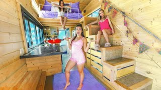 Video 24 Hours in a Tiny House with My Sisters MP3, 3GP, MP4, WEBM, AVI, FLV Juni 2019