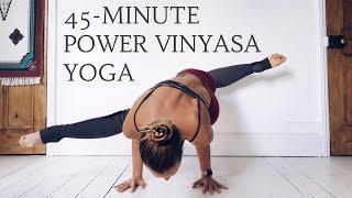Video POWER VINYASA YOGA FLOW | 45-Minute Yoga Sequence | CAT MEFFAN MP3, 3GP, MP4, WEBM, AVI, FLV Maret 2018