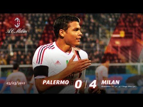 ملخص مباراة باليرمو 0-4 ميلان (03.03.2012)