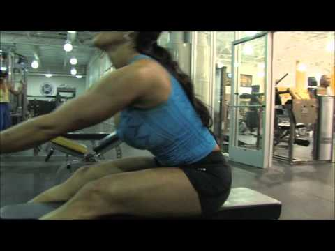 Beautiful Brunette MILF Perfect Athletic Body Gym Workout