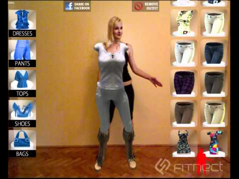 Fitnect 3d virtual fitting room fashion app with for Virtual try on wedding dress