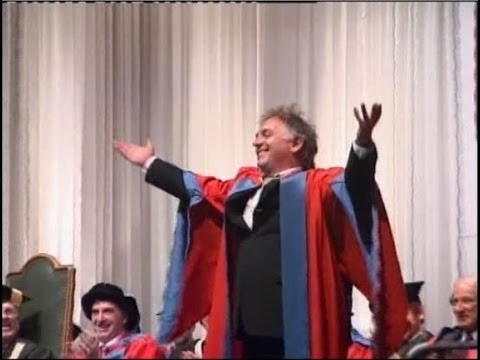 Five Mantras for life by Rik Mayall, Honorary Doctorate of the University of Exeter