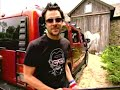 Johnny Knoxville destroying bam's Hummer