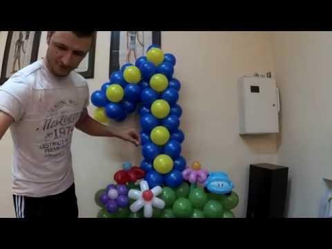 сколько стоит цифры из воздушных шаров
