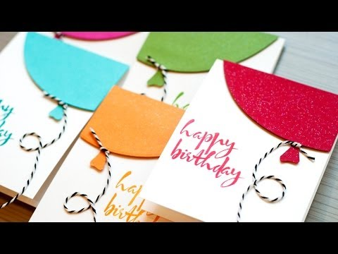 cards - Shows quick birthday cards and a look at the Avery Elle Custom Panel die set. ***SUPPLIES ARE LISTED BELOW.*** For more info: http://www.jennifermcguireink.c...