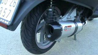 9. RACE-EXHAUST hexagonal on Aprilia Atlantic 500