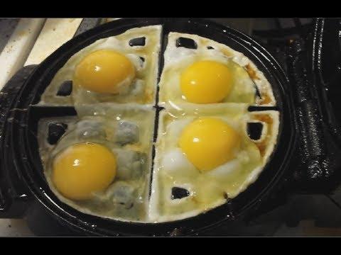 把雞蛋打入鬆餅機會做出鬆餅荷包蛋嗎?出鍋時的樣子太完美了
